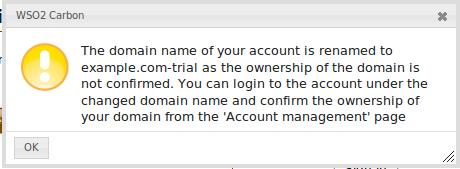 Info box at login