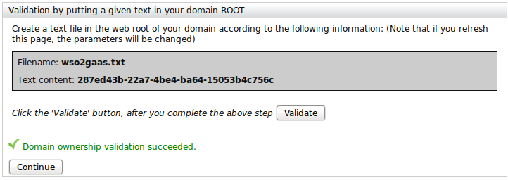 Validate domain name using Textfile