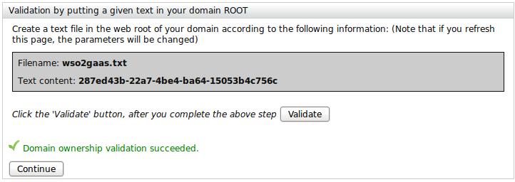 Validate domain name using Textfile